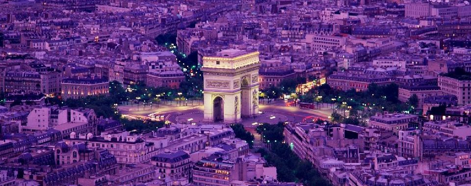 The Arc de Triomphe, near our flat in Paris
